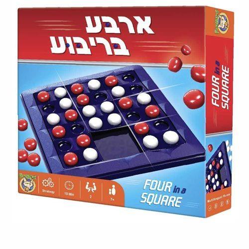 ארבע בריבוע משחק אסטרטגיה לשני שחקנים
