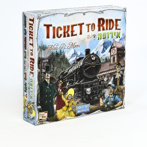 משחק קופסה ticket to ride europe משחק אסטרטגיה