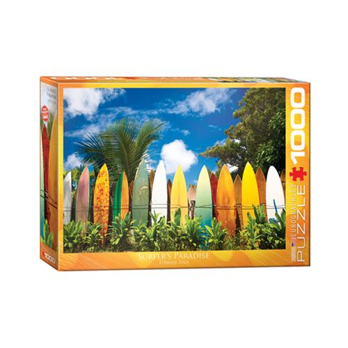 פאזל 1000 חלקים איכותי מבית EUROGRAPHICS דגם 6000-0550 Surfer's Paradise Hawaii
