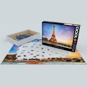 פאזל 1000 חלקים איכותי מבית EUROGRAPHICS דגם 6000-0765 Paris La Tour Eiffel