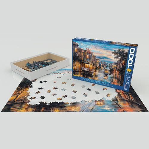 פאזל 1000 חלקים איכותי מבית EUROGRAPHICS דגם 6000-0957 San Francisco Cable Car Heaven