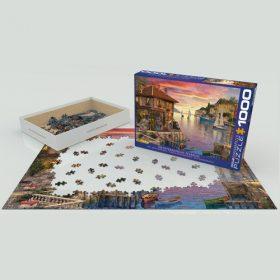 פאזל 1000 חלקים איכותי מבית EUROGRAPHICS דגם 6000-0962 Mediterranean Harbor
