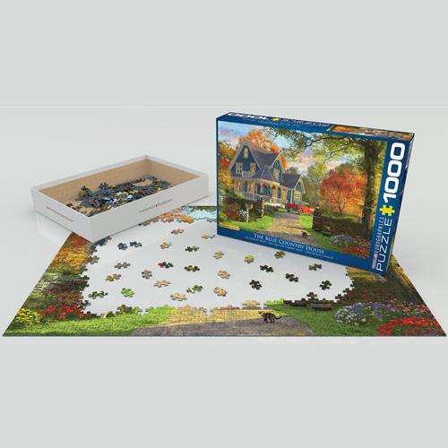 פאזל 1000 חלקים איכותי מבית EUROGRAPHICS דגם 6000-0978 The Blue Country House