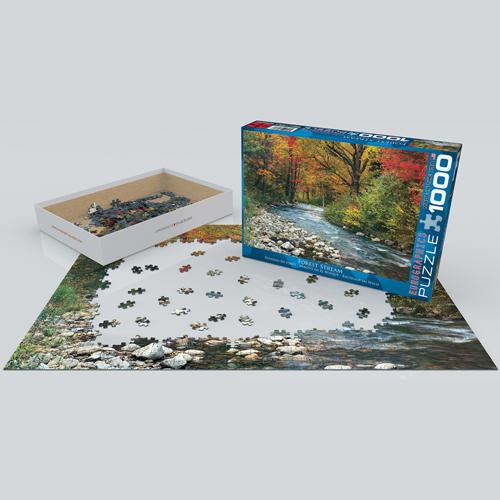 פאזל 1000 חלקים איכותי מבית EUROGRAPHICS דגם 6000-2132 Forest Stream