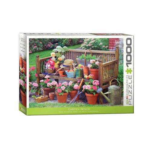 פאזל 1000 חלקים איכותי מבית EUROGRAPHICS דגם 6000-5345 Garden Bench