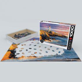 פאזל 1000 חלקים איכותי מבית EUROGRAPHICS דגם 6000-5437 Peggy Cove Lighthouse N.Scotia