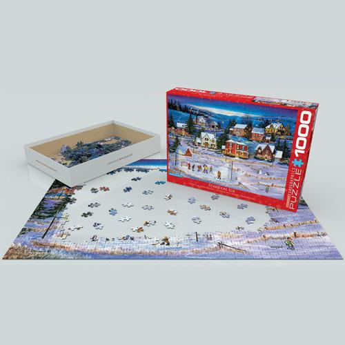 פאזל 1000 חלקים איכותי מבית EUROGRAPHICS דגם 6000-5440 Stars on the Ice by Bourque