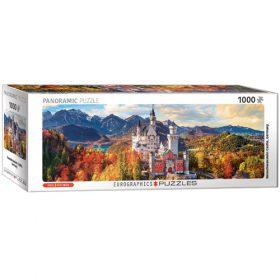 פאזל 1000 חלקים איכותי מבית EUROGRAPHICS דגם 6010-5444 Neuschwanstein in Fall - Pano