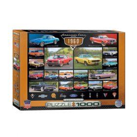 פאזל 1000 חלקים - מכוניות אמריקאיות של שנות השישים