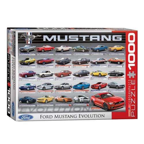 פאזל 1000 חלקים האבולציה של פורד מוסטנג