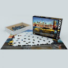 פאזל 1000 חלקים – קורבט Z06 יוצאת לסיבוב