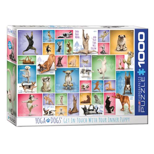 פאזל 1000 חלקים - כלבים ביוגה