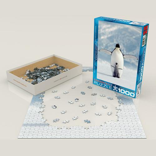 פאזל 1000 חלקים – פינגווין ואפרוח
