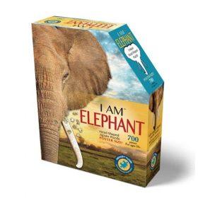 פאזל ייחודי בצורת ראש של פיל