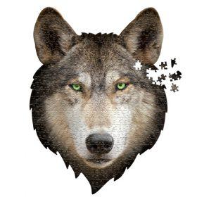 פאזל ייחודי בצורת ראש של זאב