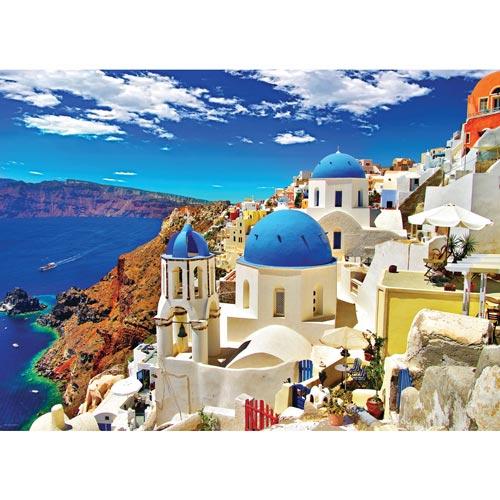 פאזל 1000 מבית אירוגרפיק בחיתוך SMART CUT חלקים אויה סנטוריני יוון