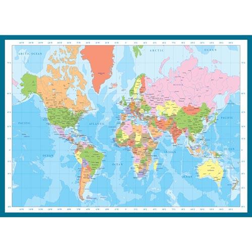 פאזל 1000 מבית אירוגרפיק בחיתוך SMART CUT חלקים מפת העולם המודרני
