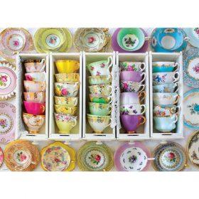 פאזל 1000 מבית אירוגרפיק בחיתוך SMART CUT חלקים כוסות תה צבעוניות