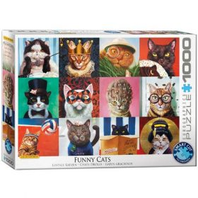 פאזל 1000 מבית אירוגרפיק בחיתוך SMART CUT חלקים חתולים מצחיקים